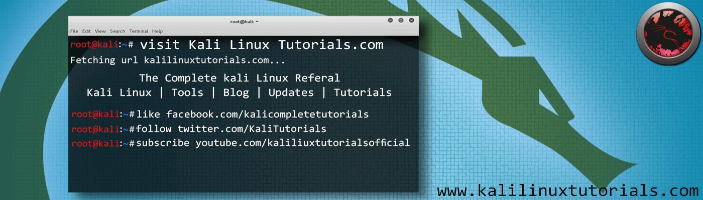 Kali Linux Tutorials
